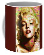 Marilyn Monroe Name Characters Coffee Mug