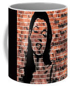 Marilyn On Brick Coffee Mug