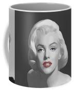 Marilyn Trio Red Lips Blue Eyes Coffee Mug