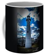 Marine City Michigan Lighthouse Coffee Mug