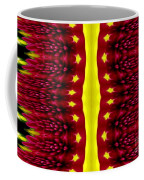 Maroon And Yellow Chrysanthemums 2 Polar Coordinates Effect Coffee Mug