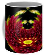 Maroon And Yellow Chrysanthemums Polar Coordinates Effect Coffee Mug