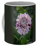 Maroon Speckled Dahlia Coffee Mug