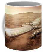 Mars Settlement With Farm Coffee Mug