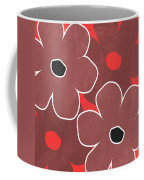 Marsala And Red Flowers- Bold Floral Art Coffee Mug