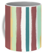 Marsala Stripe- Abstract Pattern Painting Coffee Mug