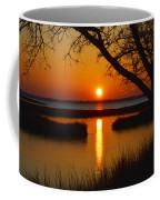 Ocean City Sunset At Old Landing Road Coffee Mug