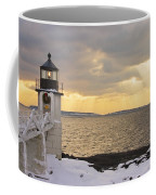 Marshall Point Lighthouse In Winter Maine  Coffee Mug