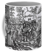 Martin Luther 1483 1546 Writing On The Church Door At Wittenberg In 1517 Coffee Mug