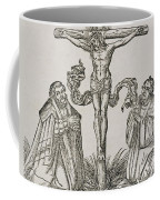 Martin Luther And Frederick IIi Of Saxony Kneeling Before Christ On The Cross Coffee Mug