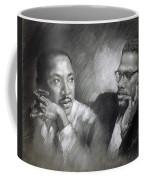 Martin Luther King Jr And Malcolm X Coffee Mug