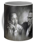 Martin Luther King Jr And Malcolm X Coffee Mug by Ylli Haruni
