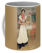 Martina Carrying Breakfast On A Tray Coffee Mug