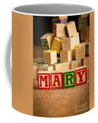 Mary - Alphabet Blocks Coffee Mug