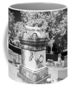 Mary And John Tyler Memorial Near Infrared Black And White Coffee Mug