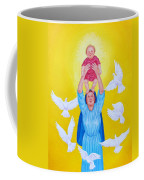 Mary Offers Her Child Jesus To His Father Coffee Mug