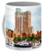 Maryland - Boats At Inner Harbor Baltimore Md Coffee Mug