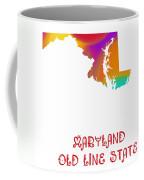 Maryland State Map Collection 2 Coffee Mug