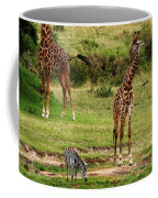 Masai Mara Wildlife Scene Coffee Mug