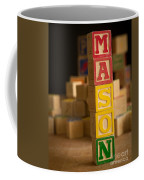 Mason - Alphabet Blocks Coffee Mug