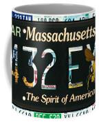 Massachusetts License Plate Coffee Mug