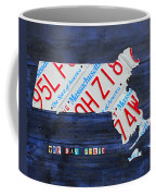 Massachusetts License Plate Map Coffee Mug
