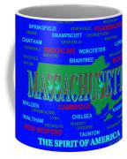 Massachusetts State Pride Map Silhouette  Coffee Mug