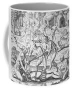 Massacre Of Christian Missionaries Coffee Mug by Theodore De Bry
