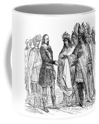 Massasoit Forges Treaty With Pilgrims Coffee Mug