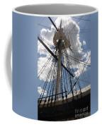 Mast And Clouds Coffee Mug