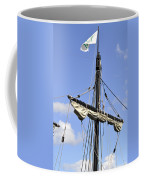 Mast And Rigging On A Replica Of The Christopher Columbus Ship P Coffee Mug