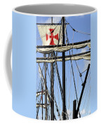 Masts And Rigging On A Replica Of The Christopher Columbus Ship  Coffee Mug