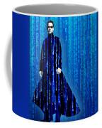 Matrix Neo Keanu Reeves Coffee Mug by Tony Rubino