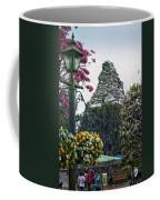 Matterhorn Mountain With Flowers At Disneyland Coffee Mug