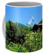 Matterhorn With Mountain Chalet Coffee Mug