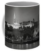 Matthias Church Night Bw Coffee Mug