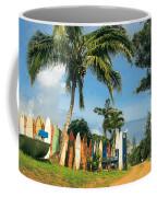 Maui Surfboard Fence - Peahi Coffee Mug
