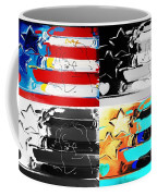 Max Stars And Stripes In Quad Colors Coffee Mug