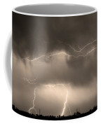 May Showers - Lightning Thunderstorm Sepia 5-10-2011 Coffee Mug
