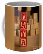 Maya - Alphabet Blocks Coffee Mug