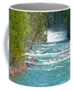 Mcdonald Creek Falls In Glacier Np-mt Coffee Mug