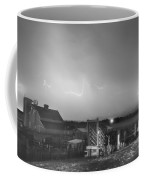Mcintosh Farm Lightning Thunderstorm View Bw Coffee Mug
