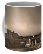 Mcintosh Farm Lightning Thunderstorm View Sepia Coffee Mug