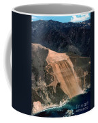 Aerial Of Mcway Landslide Big Sur California 1984 Coffee Mug