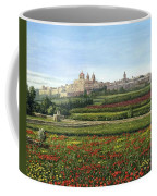 Mdina Poppies Malta Coffee Mug by Richard Harpum