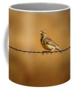 Meadowlark And Barbed Wire Coffee Mug