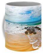 Meandering Waves On Tropical Beach Coffee Mug