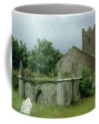 Medieval Church And Churchyard Coffee Mug