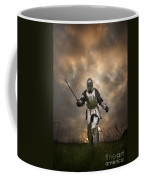Medieval Knight In Armour On The Attack Coffee Mug