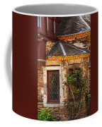 Medieval Window And Rose Bush In Germany Coffee Mug